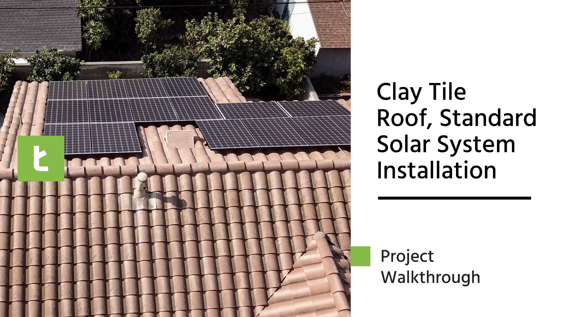 Clay Tile Roof, Standard Solar System Installation